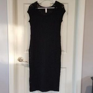 Pinkblush maternity black lace dress, M, midlength
